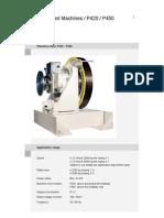 Machine p420p450