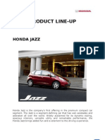 Product Line Up & Technologies in Honda