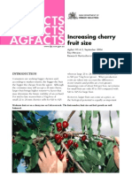 Increasing Cherry Fruit Size