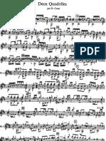 Napoleon Coste Op 3, 2 Quadrilles de Contredanses