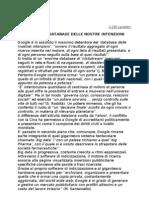 11-Google Database Intenzioni