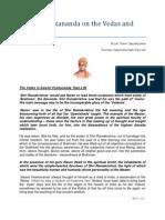 Swami Vivekananda on the Vedas and Upanishads Part 1