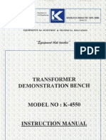K-4450 Transformer Bench Training Manual