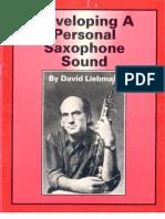 Liebman, David - Developing a Personal Saxophone Sound