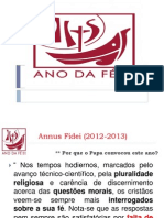 Annus Fidei (2012-2013) Apresentacao Para Assembleia