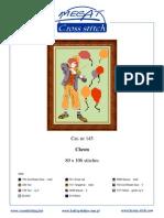 Clown Cross Stitch Pattern (Color Detail)