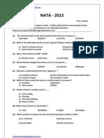 NATA Sample Paper 1