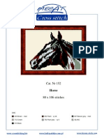 Horse Cross Stitch Pattern (Color Detail)