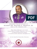 Bishop Dr. Walter G. Francis, Jr. Funeral Program