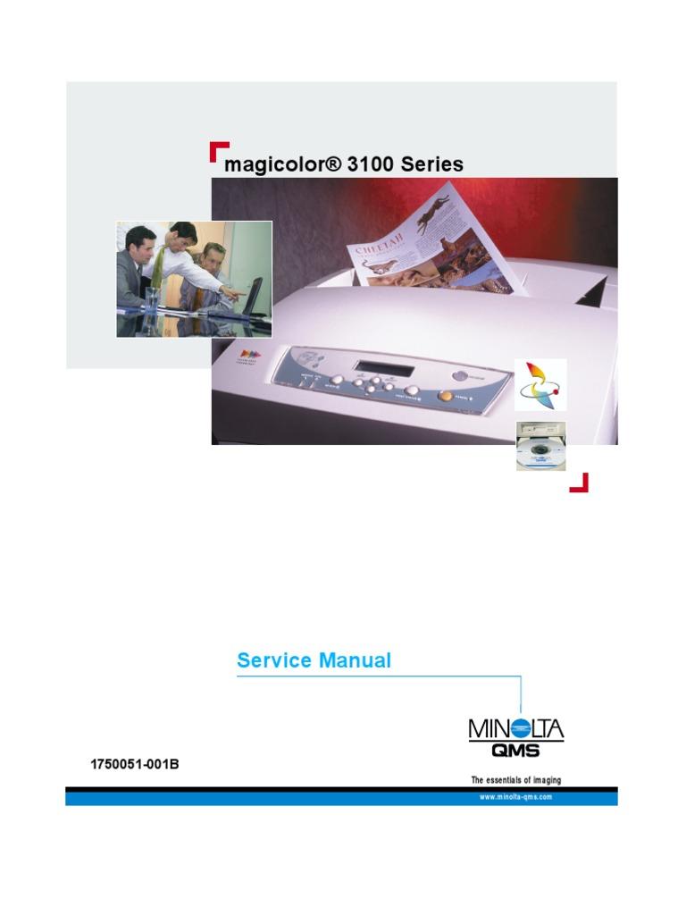 minolta magicolor 3100 service manual troubleshooting trademark rh scribd com