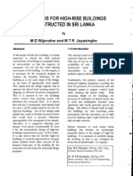 Wind Loads for High-Rise Buildings Constructed in Sri Lanka by M.D. Wijeratne & M.T.R. Jayasinghe 1998