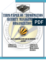 Information security management in organisation