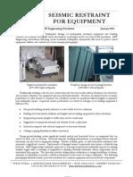 MRP Seismic Restraint for Equipment