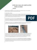 CONSTRUCCIÓN DE CASA DE HABITACIÓN PASO A PASO.-