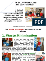 Eco-Committee Action Plan for 0809