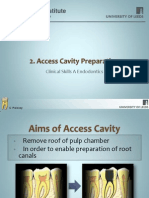 Slide 2 - 2 - Access Cavity Preparation