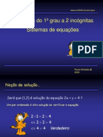 Sistema equações