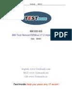 Sample Exam for IBM/Netcool/Omnibus..