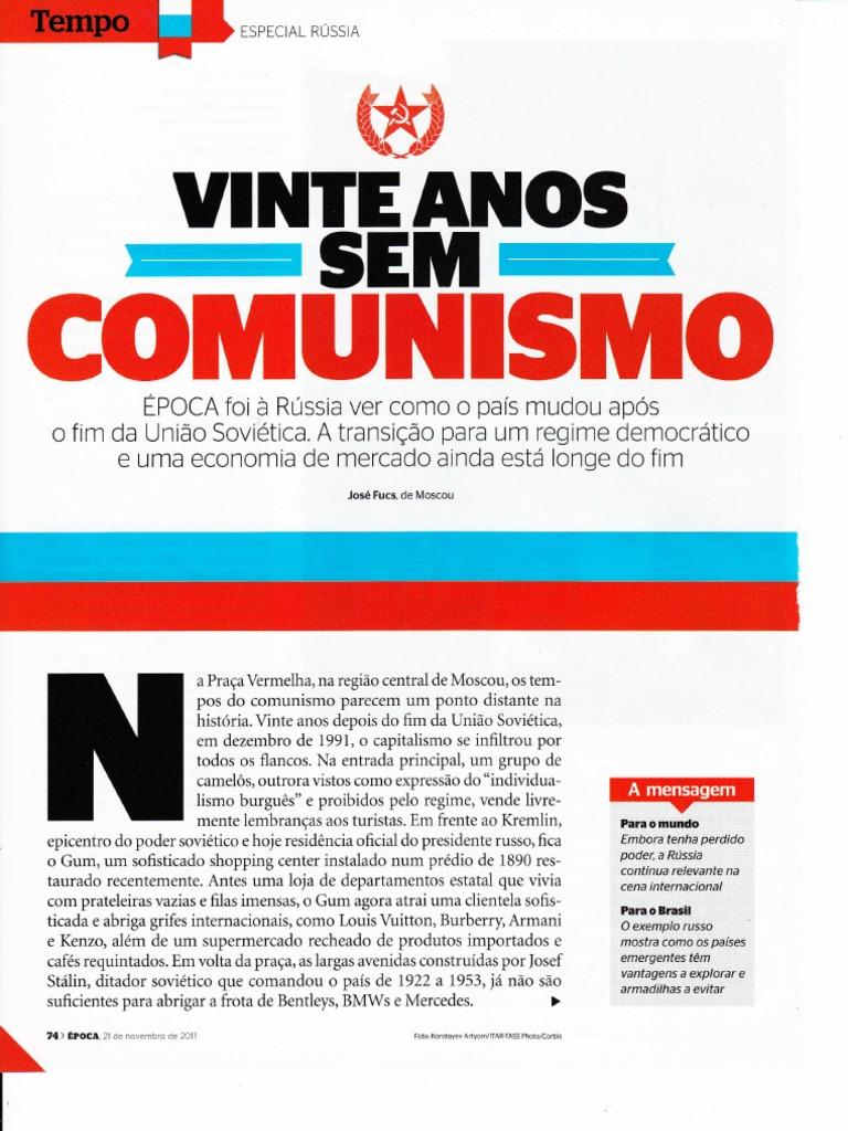 Rússia - vinte anos sem comunismo 79add84f7370e