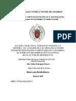 Accion Colectiva, Violencia Politica y Genero - Tesis Doctoral