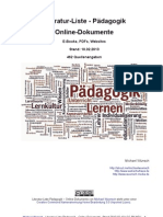 Pädagogik - Literatur-Liste - Online-Dokumente EBooks PDFs - 2013-02-10 Michael Wuensch