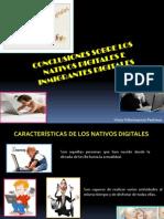 Presentación de Nativos e inmigrantes digitales - Vicky Villavicencio