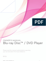 LG BP125 Blu Ray Player Manual