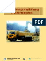 guidance notes on health hazard in construction work