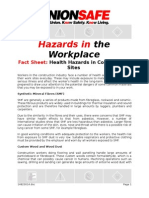 health hazards in construction sites