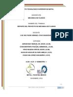 REPORTE DEL PROYECTO DE MECÁNICA DE FLUIDOS