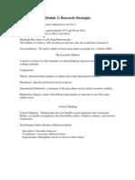 Module 2- Research Strategies