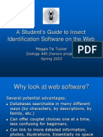 A Student's Guide to Insect Identification Software on the Web