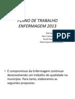 Plano de Trabalho Enfermagem 2013