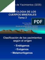 Morfologia de Los Cuerpos Minerales Tema 2