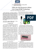 ROBAASTRA the Self Destructive Robot Control by Using DTMF Technology