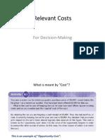 01 Relevant Costs