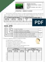 Sistema Decimal - Ordens e Classes