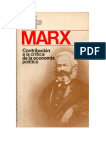 Contribucion a la crítica de la economía política MARX