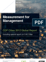 CDP C40 Cities Global Report 2012