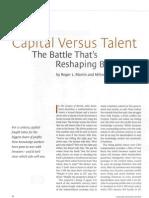 Capital Versus Talent
