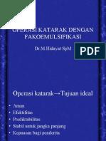 Operasi Katarak Dg Fakoemulsifikasi
