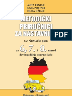 Metodicki Prirucnici Za Nastavnike Uz Njemacki Za 6, 7 i 8 Razred Devetogodisnje Osnovne Skole