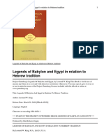 Legends of Babylon and Egypt in relation to Hebrew tradition Legends of Babylon and Egypt in rkingleon20302030-8