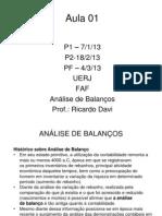 UERJ ANALISE BALANÇO _ADM_01   - Análise de Balanço