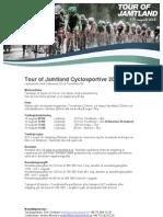 Inbjudan Tour of Jamtland  Cyclosportive 2013