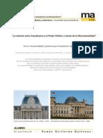 La relación entre arquitectura y poder político a través de la monumentalidad