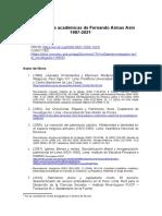 Publicaciones Del Historiador Fernando Armas Asin