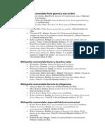 Bibliografía recomendada cursos Derecho Civil