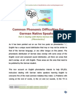 Common Phonemic Difficulties for German Native Speakers