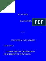 ANATOMIA PALPATÓRIA II SEM.